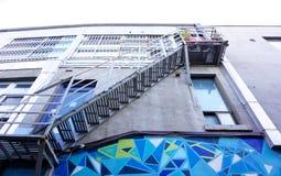Городская пожарная лестница города Стоковое Изображение RF