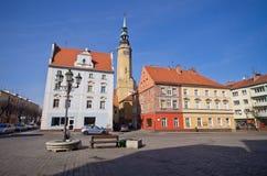 Городская площадь в Brzeg, Польше Стоковые Фото