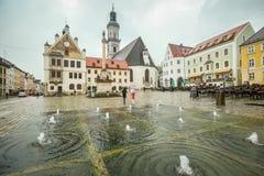 Городская площадь в Freising Стоковое Фото