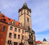 Городская площадь Праги старая, чехия Стоковая Фотография