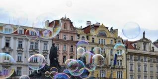 Городская площадь Праги Стоковая Фотография