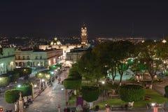 Городская площадь Morelia Стоковая Фотография RF