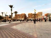 Городская площадь touristic города Bechar Алжира В прошлом, Bechar было центром торговать золота Стоковая Фотография