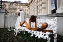 Городская скульптура в Турине Стоковое Фото
