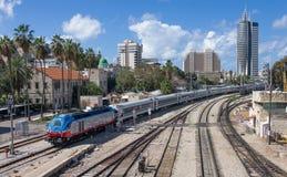 Городская сцена в Хайфе - Израиле стоковые фотографии rf