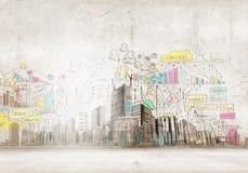 Городская сцена стоковые изображения rf