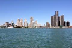 Городская съемка Детройта широкая Стоковая Фотография RF
