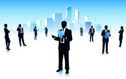 Городские бизнесмены иллюстрация вектора