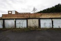 Городские гаражи в условии подробный отчёт Стоковое Изображение RF