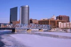 городские грандиозные rapids mi Стоковая Фотография RF