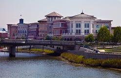 Городские здания берега реки Napa Стоковые Изображения RF