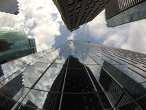 Городские здания Ванкувер Стеклянные здания Стоковая Фотография