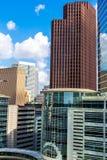 Городские здания highrise Хьюстона Стоковые Фотографии RF