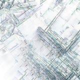 Городские кварталы абстрактного искусства Стоковая Фотография RF