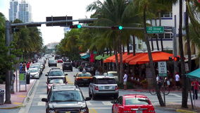 Городские пейзажи Miami Beach США привода океана сток-видео