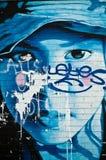 городское искусство - молодой человек Стоковая Фотография