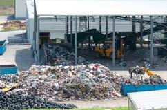 Городское место захоронения отходов Депо водоочистительной станции Стоковое Фото