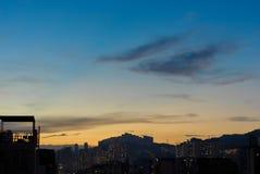 Городское сумерк Гонконга Стоковое фото RF