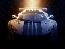 Городское супер sportscar - былинное освещение иллюстрация вектора