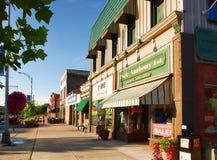 Городское Canandaigua, Нью-Йорк Стоковое фото RF