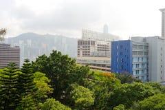 городское Hong Kong Стоковые Фотографии RF
