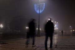 Городской ландшафт в тумане Стоковое Изображение