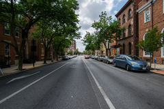 Городской ландшафт смотря вниз с дороги в Йорке, Пенсильвании Стоковая Фотография