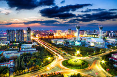Городской административный центр Weifang Стоковые Фотографии RF
