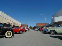 Городской взгляд выставки автомобиля Стоковые Фотографии RF