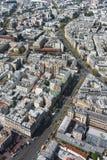 Городской взгляд от высокого здания Стоковые Фото