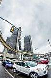 Городской горизонт города detroit Мичигана Стоковое фото RF