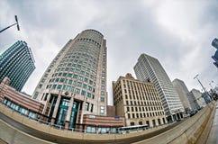 Городской горизонт города detroit Мичигана Стоковая Фотография