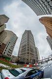 Городской горизонт города detroit Мичигана Стоковое Изображение