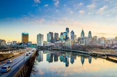Городской горизонт Филадельфии, Пенсильвании. Стоковое фото RF