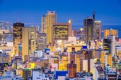 Городской городской пейзаж Кобе Японии Стоковые Фотографии RF