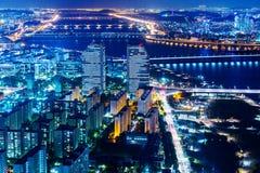 Городской городской пейзаж Сеула Стоковая Фотография
