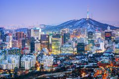 Город Сеул Кореи Стоковая Фотография RF