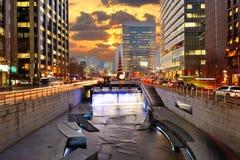 Городской городской пейзаж Южной Кореи Сеула Стоковая Фотография