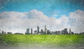 Городской городской пейзаж стоковые фотографии rf