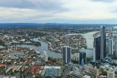 Городской город Gold Coast Стоковые Фотографии RF