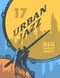 Городской джаз белизна пятна краски маски принципиальной схемы черноты предпосылки искусства красная Стоковые Изображения