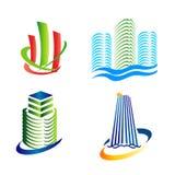 Городской логотип значков Стоковое фото RF