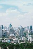 Городской пейзаж Бангкока во времени дня Стоковое фото RF