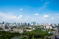 Городской пейзаж Бангкока во времени дня Стоковая Фотография