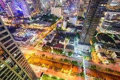 Городской пейзаж Бангкока Таиланда Стоковые Изображения