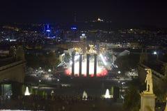 Городской пейзаж Барселоны от горы стоковые изображения