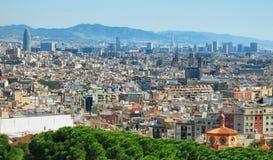 Городской пейзаж Барселоны Стоковое фото RF