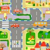 городской пейзаж безшовный бесплатная иллюстрация