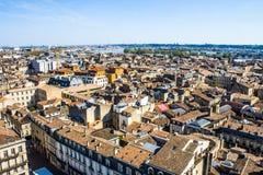 Городской пейзаж Бордо, Франции Стоковое Изображение RF