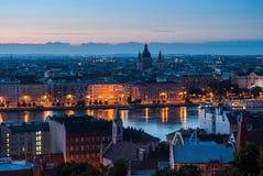 Городской пейзаж Будапешта Стоковые Фото